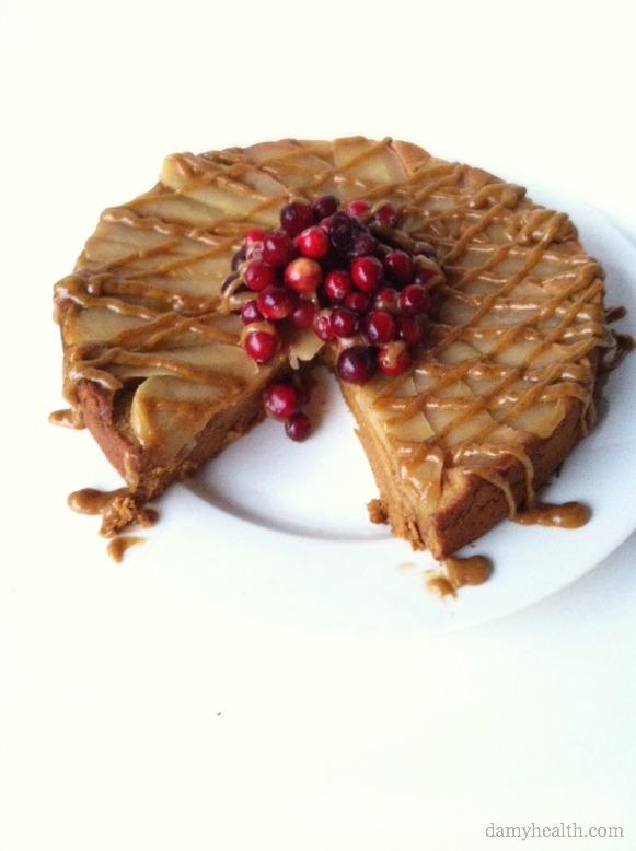 Gluten - free Caramel Apple Upsidedown Cake