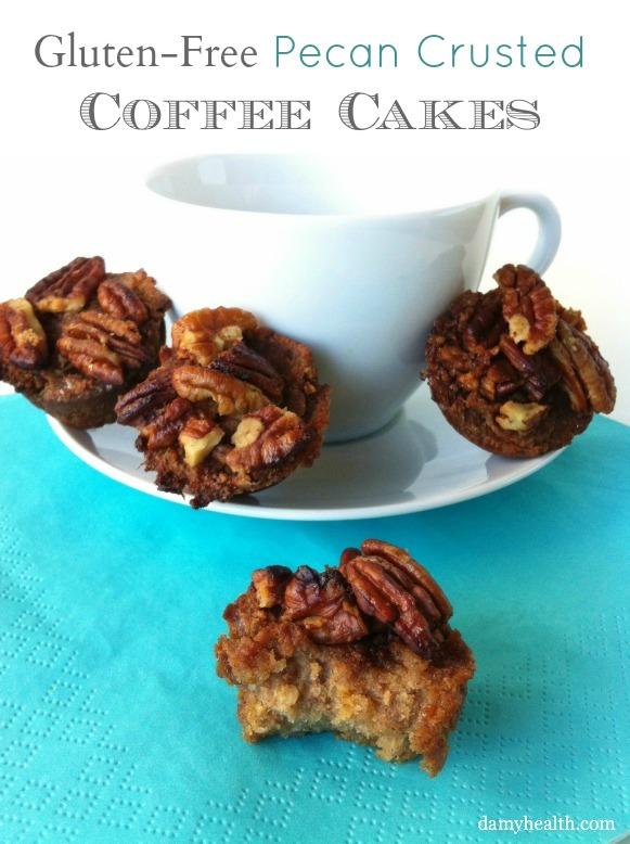 Gluten-Free Pecan Crusted Coffee Cakes