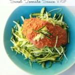 Raw Zucchini Pasta with Sweet Tomato Sauce