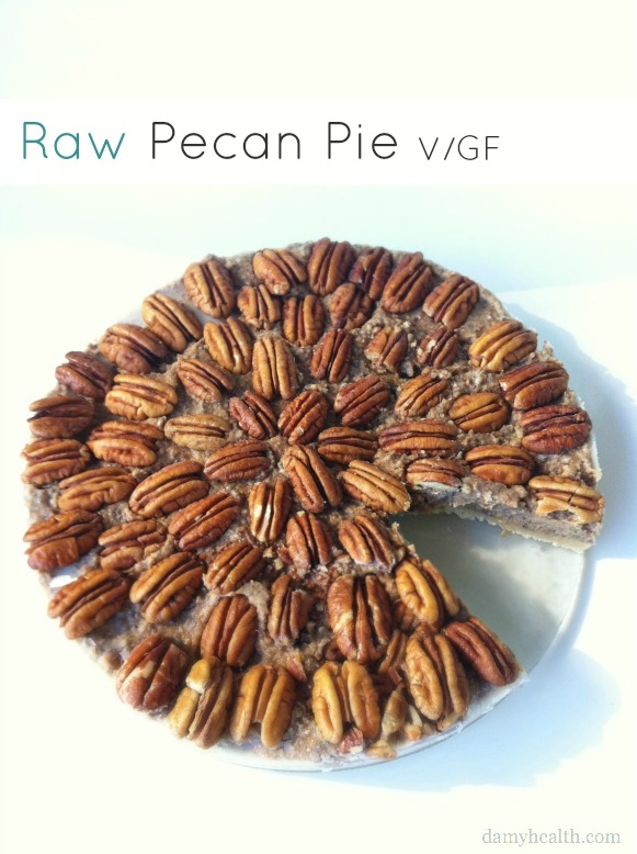 Simple Raw Pecan Pie