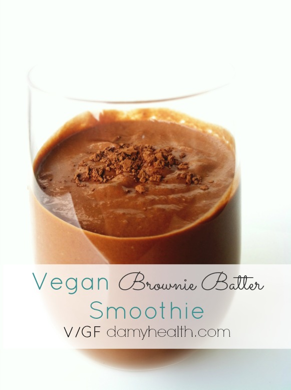 Vegan Brownie Batter Smoothie