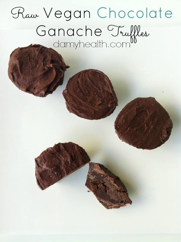 Raw Vegan Chocolate Ganache Truffles