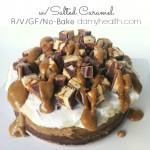 Raw Vegan No-Bake Deep Dish Peanut Butter Snickers Pie w/ Salted Caramel