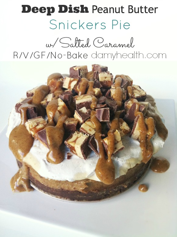 Raw Vegan Peanutbutter Snickers Pie12