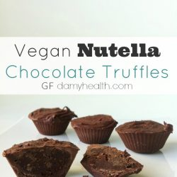 Vegan Nutella Chocolate Truffles 1