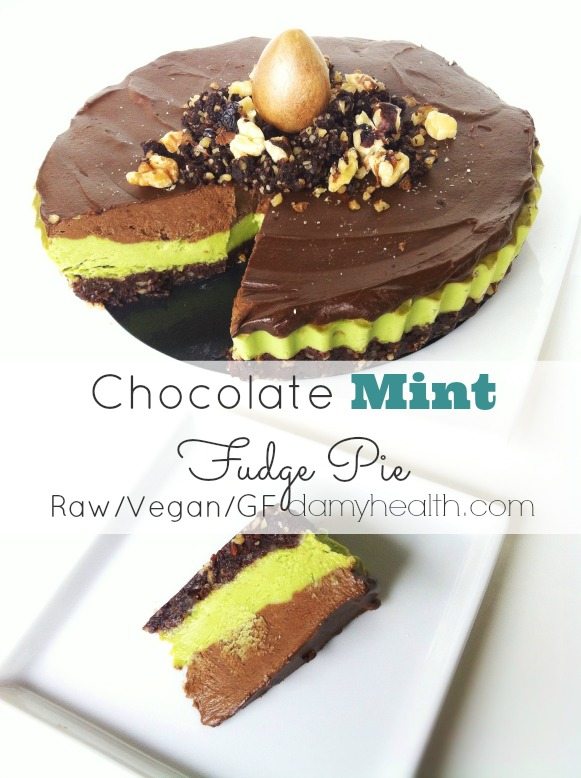 Chocolate Mint Fudge Pie (Raw/Vegan)