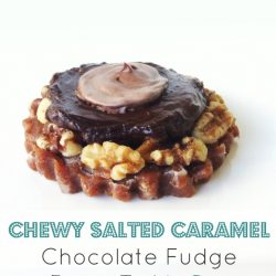 Raw Vegan Salted Caramel Chocolate Fudge Pecan Tart1