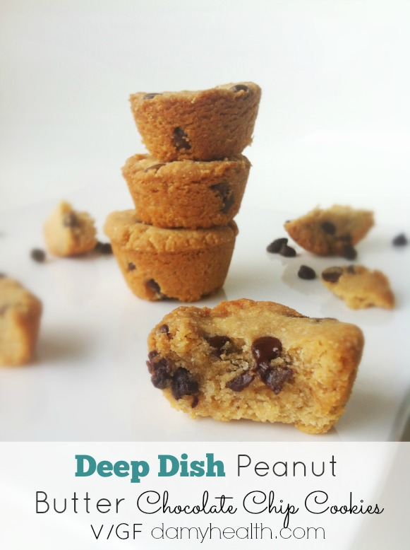 Dairy Free GlutenFree Deep Dish Peanut Butter Chocolate Chip Cookies1
