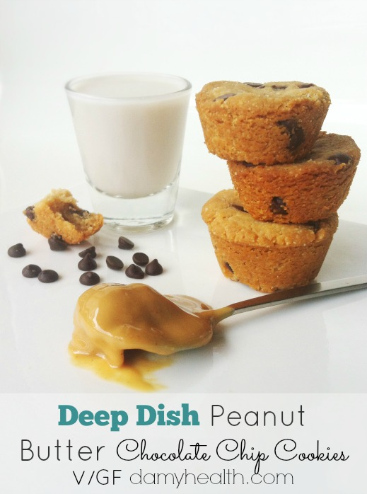GlutenFree Deep Dish Peanut Butter Chocolate Chip Cookies1