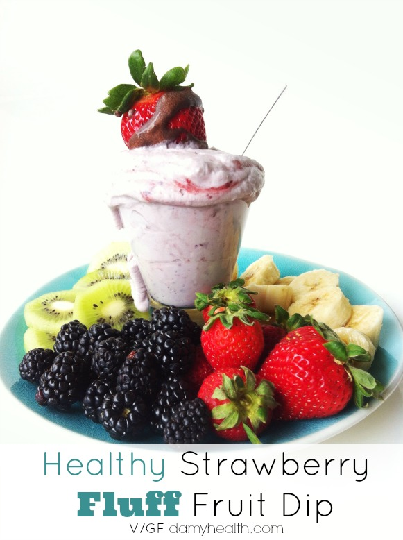 Healthy Strawberry Fluff Fruit Dip