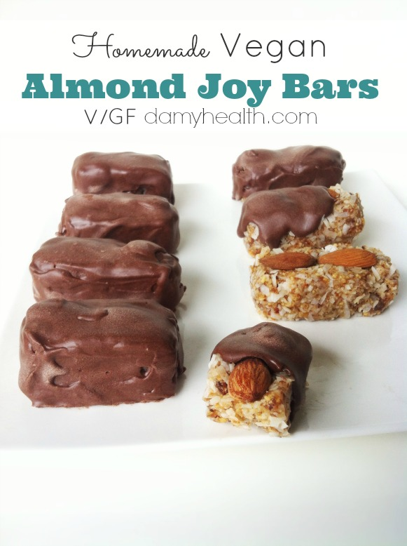 Homemade Almond Joy & Mounds Chocolate Bars1