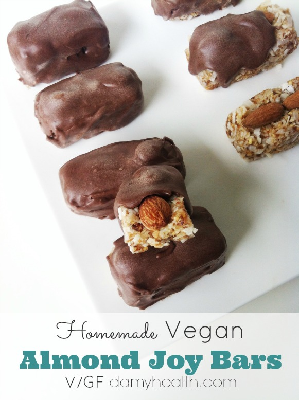 Homemade Raw Vegan Almond Joy & Mounds Chocolate Bars1