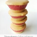 """""""Strawberry Blondies"""" – Macadamia Strawberry Cheesecake Bites"""