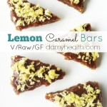 Lemon Caramel Bars (Raw/Vegan)