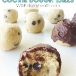Healthy Chocolate Covered Cookie Dough Balls