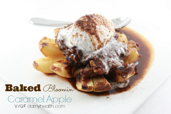 Baked Bloomin Caramel Apple1