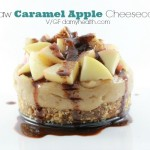 Vegan Caramel Apple Cheesecake