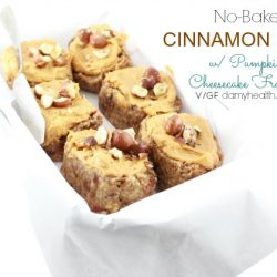 Cinnamon Buns with Pumpkin Cheesecake Frosting