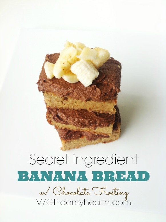 Vegan Banana Bread with Chocolate Frosting1