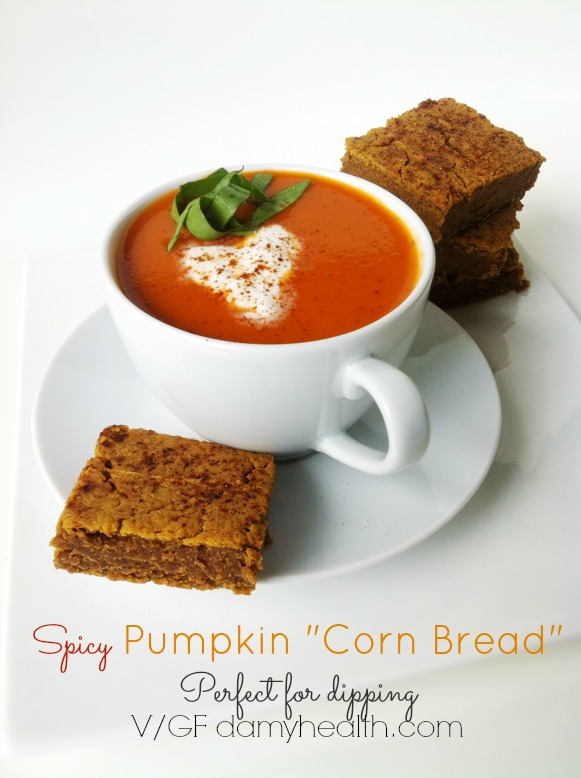glutenfree spicy pumpkin cornbread