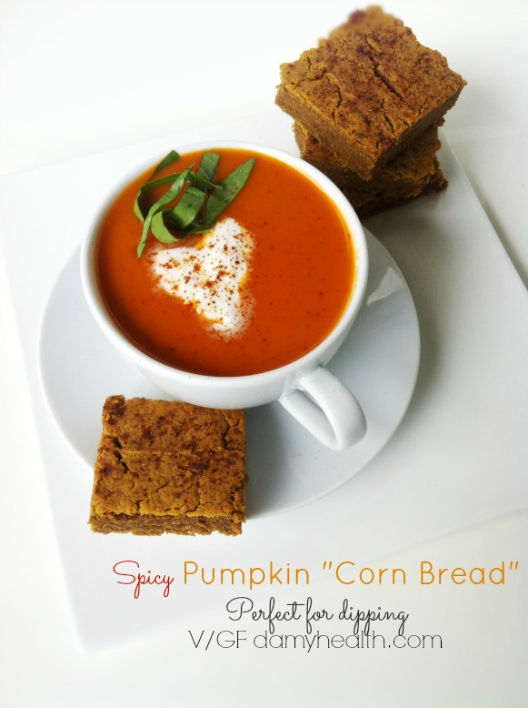 grainfree spicy pumpkin cornbread