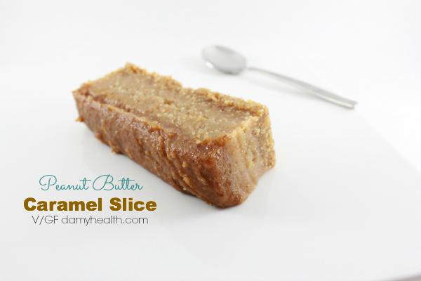 raw vegan peanut butter caramel slice2