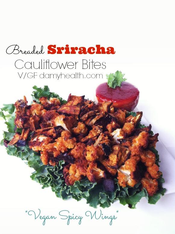 sriracha cauliflower bites