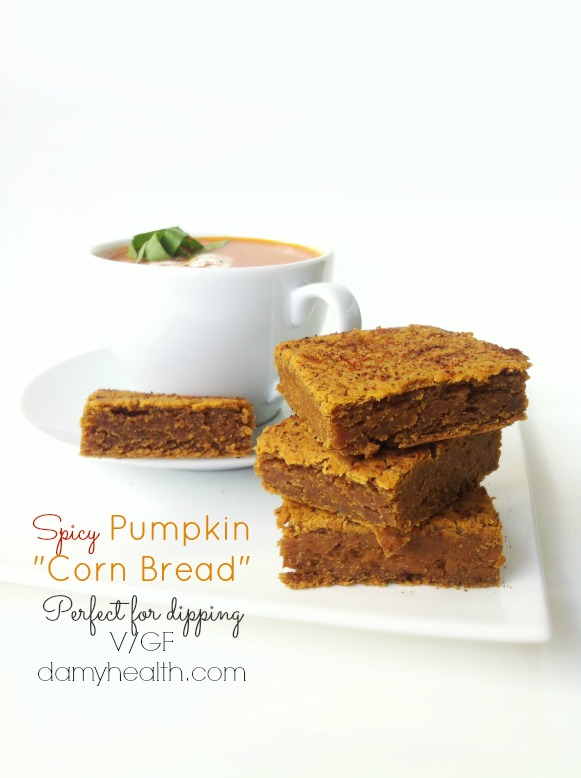 vegan spicy pumpkin cornbread