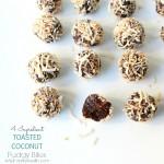 4 Ingredient TOASTED COCONUT Fudgy Bites