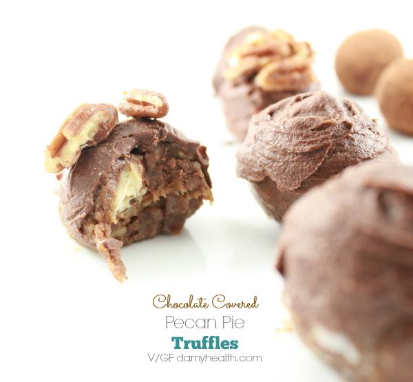 Chocolate Covered Pecan Pie Truffles