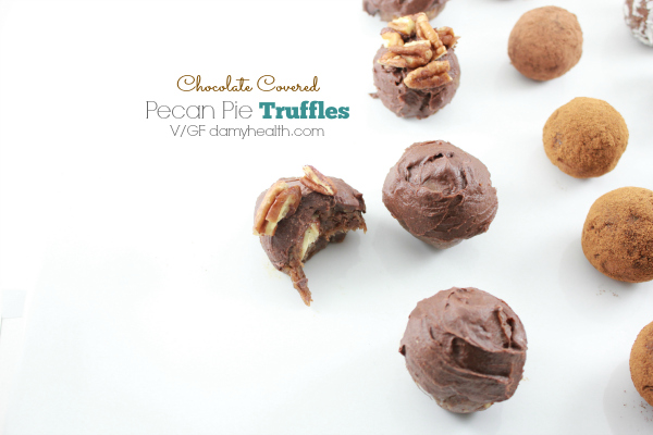 chocolate covered pecan pie truffles1