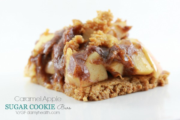 gluten free caramel apple sugar cookie bars1