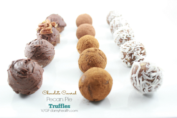Chocolate Covered Pecan Pie Truffles