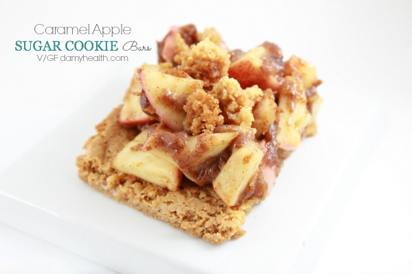 vegan caramel apple sugar cookie bars1