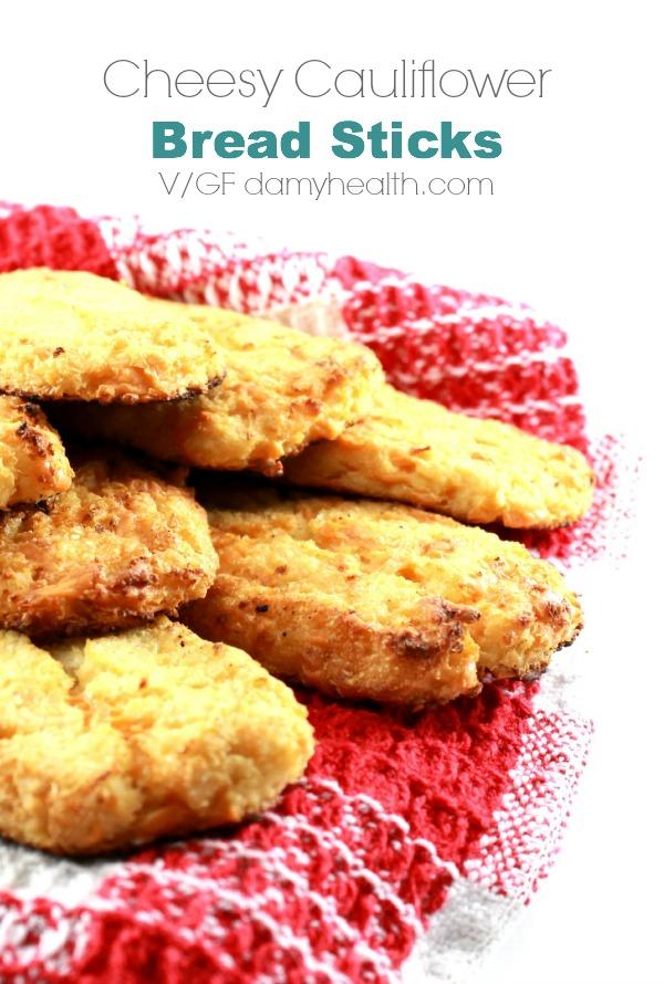 vegan cheesy garlic  cauliflower breadsticks large1