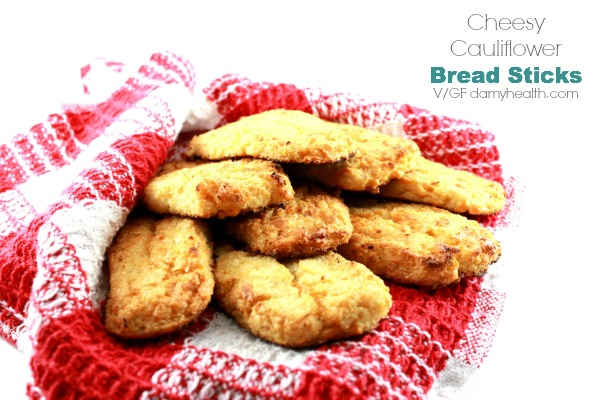 Cheesy Cauliflower Bread Sticks