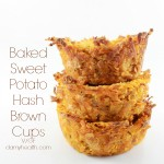 Baked Sweet Potato Hash Brown Cups