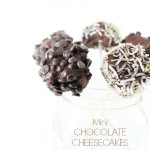 Mini Chocolate Cheesecakes on a Stick (Vegan)