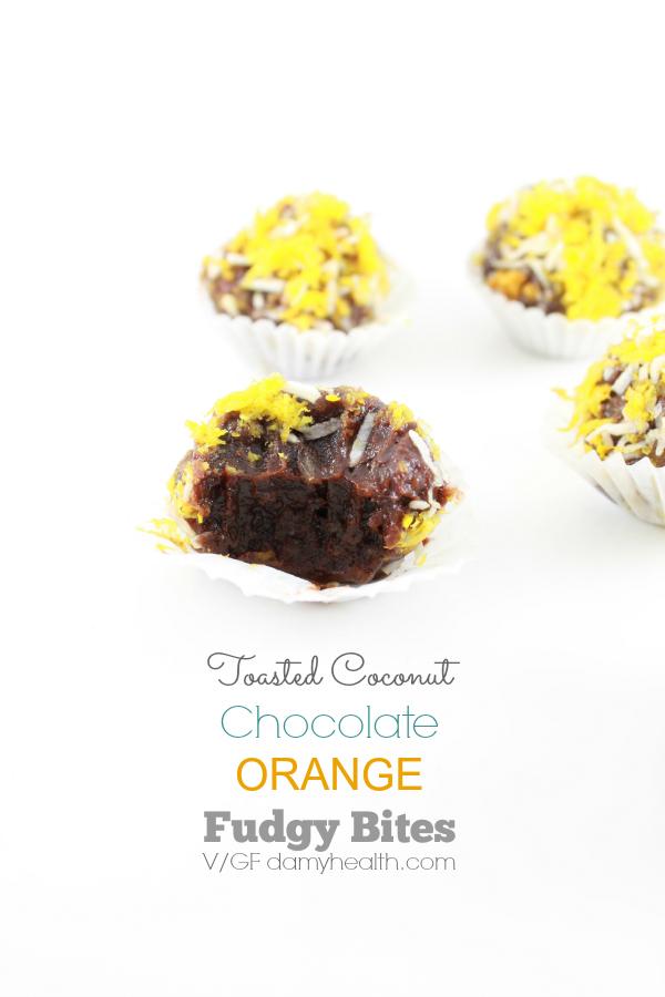 vegan coconut & orange chocolate fudgy bites1