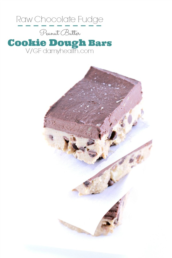 Chocolate Fudge Peanut Butter Cookie Dough Bars1