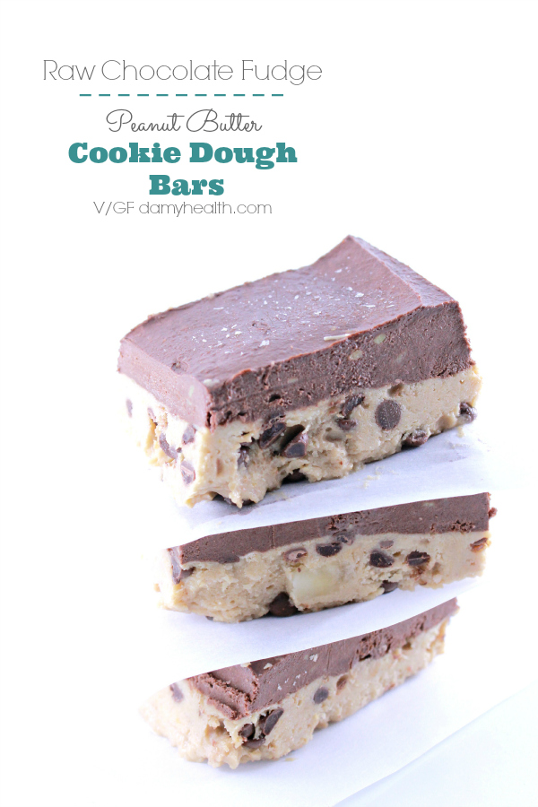 Vegan Chocolate Fudge Peanut Butter Cookie Dough Bars1