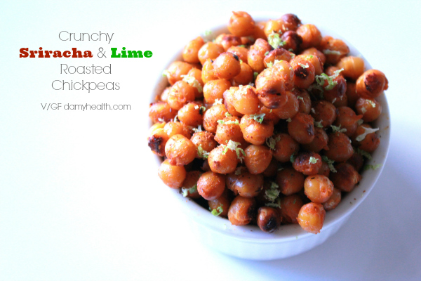 Crunchy Sriracha and Lime Roasted Chickpeas