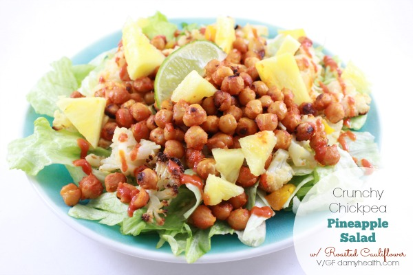 Roasted Chickpea Salad with Pineapple