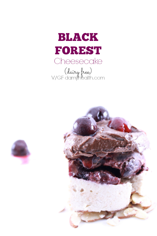 no bake Vegan Black Forest Cheesecake1