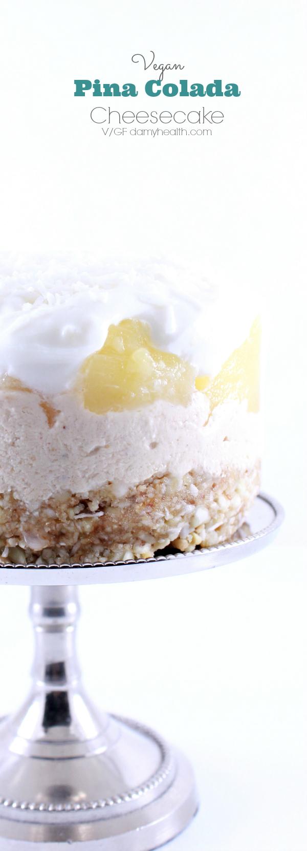Vegan Pina Colada Cheesecake