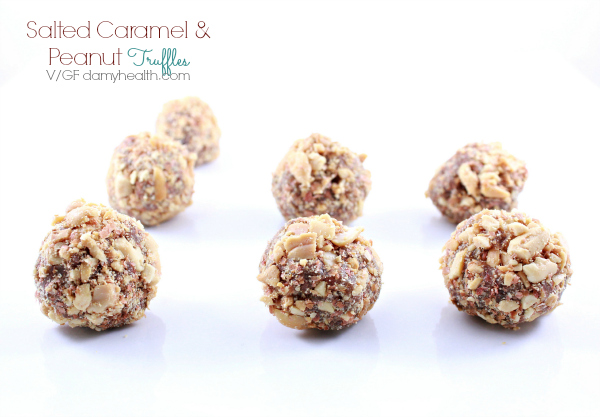 Salted Caramel and Peanut Truffles