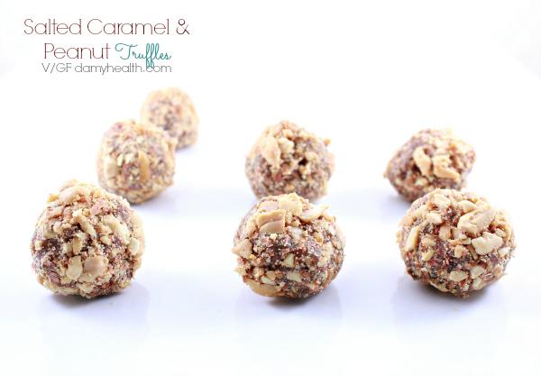 Salted Caramel & Peanut Truffles