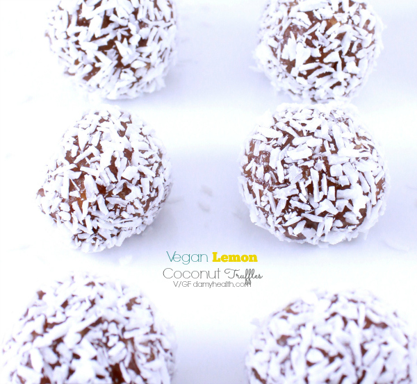 Vegan Lemon Coconut Truffles