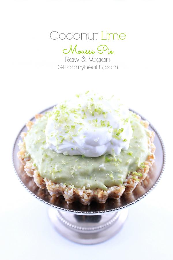 Coconut Lime Mousse Pie (Raw/Vegan)