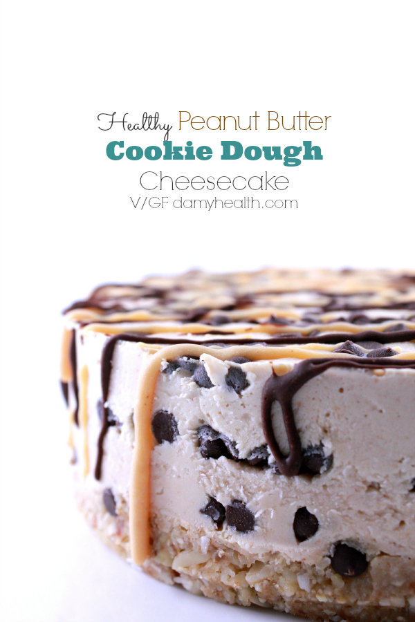 Healthy Peanut Butter Cookie Dough Cheesecake